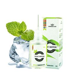 E-LIQUID - MENTHOL € 3.80 The fresh menthol taste is very similar to menthol cigarettes.  Menthol e-liquid is an excellent choice for those who usually smoke menthol cigarettes, but is also used by many to mix with other flavors. It gives a fresh touch and a delightful taste experience. True Vapor's e-liquid is of high quality with natural aroma.