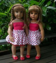 SET 1 Götz Puppe Hannah 50 cm Stehpuppe + viel Puppenkleidung