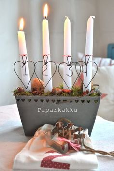 #Advent candles for #Christmas