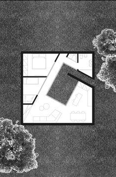 9x9 come una casa araba chiusa su se stessa aperta solo a chi la abita. si contorce a spirale. patio come centro al quale tutti gli spazi guardano. chiusa intimita'.