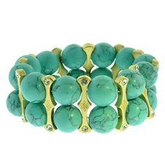 Turquoise Bracelet #Bamboopink #jewelry #judefrances