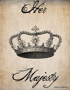 her majesty, antique graphique