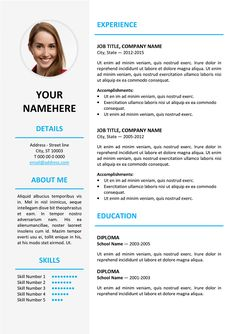 Free Elegant Resume Templates Hongdae Is A Free Modern Resume Templateonepage Clean With