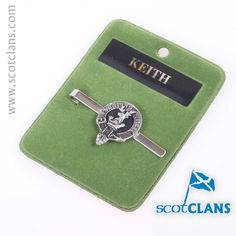 Keith Clan Crest Tie Slide. Free Worldwide Shipping Available