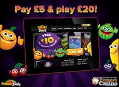 Pay £5 & get £20 to play with only at Pocket fruity mobile casino. There are many popular games like Phone Casino SMS Blackjack & Phone Casino Roulette. These payments methods are very safe and secure and can be completely trusted when using the Phone Casino Blackjack.http://goo.gl/IqIoty