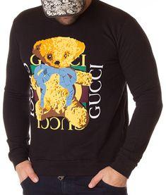 Gucci Bluza Cute Bear - Neagra | Bluze | Bluze | Brande Cute Bears, Gucci, Graphic Sweatshirt, Sweatshirts, Sweaters, Fashion, Moda, Fashion Styles, Trainers