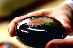 """Japanese lacquer box : One of the most well-known techniques for making lacquerware in Japan is called """"makie"""" which uses silver and gold powder. It's scattered on freshly-painted lacquer and when it's dry, the surface is painted again with lacquer, dried and polished."""