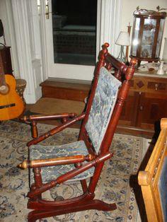 Antique Victorian Rocking Chair Hunzinger Style  eBay
