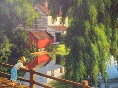 "Paul Detlefsen Art ""The Good Old Summertime"" Huge Vintage Original Lithograph A | eBay"