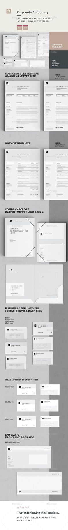Buy Stationery by egotype on GraphicRiver. Simple to work with and highly customizable, it ca be easely adjusted to f. Stationery Printing, Stationery Templates, Stationery Design, Print Templates, Resume Templates, Invoice Design, Letterhead Design, Letterhead Template, Company Profile Template