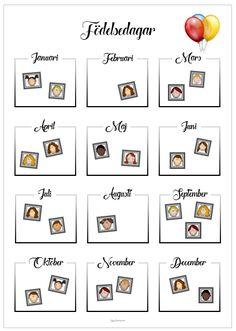Födelsedagar - att skriva, rita eller sätta foton i.