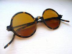 1930's Celluloid Sunglasses Tortoise Frame by BackThennishVintage