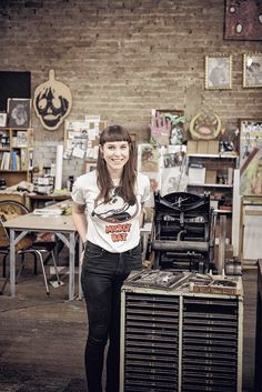 Adelaide artist Kerri-Anne Wright at Tooth and Nail Studios. As seen in the Adelaide* magazine's Youth Issue, June 2013. Photo: Sven Kovac. #Adelaide #Artist #creative #Art #ArtStudio