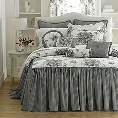 More of a country black and white bedding feel