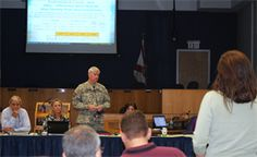 During his recent visit to Jacksonville District project sites in south Florida, Maj. Gen. Michael J. Walsh, Deputy Commanding General for Civil and Emergency Operations for the U.S. Army Corps of Engineers, paid a visit to the Central Everglades Planning Project team during a Project Delivery Team meeting they were holding in West Palm Beach, Fla., Jan. 24.