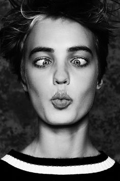 BEE FOR BAST MAGAZINE on Behance, expression, funny face, powerful, intense, haha, portrait, b/w