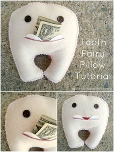 Tooth fairy pillow tutorial with pocket   plushie patterns #toothfairy #plushie