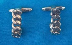 Vintage gold colored braided J Shaped Men's cuff links NR jewelry  #Unbranded