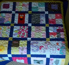 Baby Clothes Memory Quilt Blanket