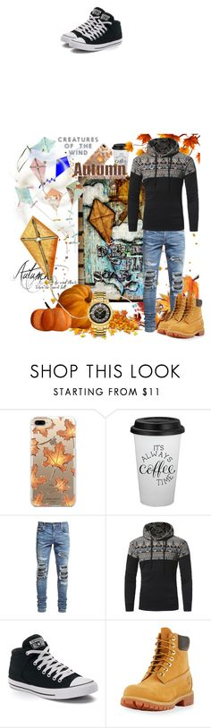 """""""090 Autumn Kite Festival"""" by berry2206 on Polyvore featuring Casetify, AMIRI, Paper Source, Converse, Timberland, JBW, men's fashion und menswear"""