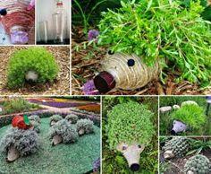 DIY Plastic Bottle Hedgehog Planters