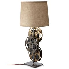 Look what I found at UncommonGoods: Film Reel Lamp for $525 #uncommongoods