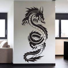 Tribal Dragon Tattoo Vinyl Wall Decal Art by VinylWallArtworks, $20.99
