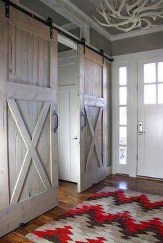 Master bath/closet doors