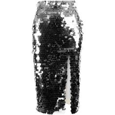 Anouki Sparkly Sequin Pencil Skirt ($595) ❤ liked on Polyvore featuring skirts, silver, sparkle skirts, knee length flared skirts, pencil skirts, high-waisted pencil skirts and high waisted pencil skirt