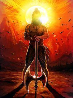 Parasurama - The avatar of Vishnu who cleansed the world of Kshatriyas 17 times with his mighty Axe Hindus, Shiva Tandav, Rudra Shiva, Krishna Krishna, Angry Lord Shiva, Atlantis, Lord Hanuman Wallpapers, Lord Shiva Hd Images, Lord Shiva Painting
