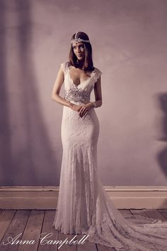Anna Campbell Wedding Dresses Vintage 2015 Harper Fit And Flare Lace Mermaid V Neck Cap Sleeve Bow Backless Silver Beading KR Bridal Gowns Fairy Wedding Dress, Fit And Flare Wedding Dress, Wedding Dresses For Sale, Wedding Dress Sizes, Wedding Dress Sleeves, Bridal Dresses, Wedding Gowns, Lace Wedding, Hair