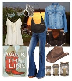 """""""little bit country"""" by shelli-gal ❤ liked on Polyvore featuring Charlotte Russe, Ralph Lauren, Mother, MICHAEL Michael Kors, Mudd, Accessorize, Creative Co-op, Peter Grimm and country"""