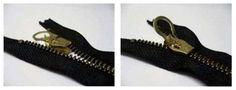 Zlideon Zipper (maat) rits reparatie, zipper kapot, rits vervangen --> enkel schuiver vervangen zonder rits zelf