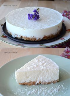New York Cheesecake Sweet Recipes, Cake Recipes, Dessert Recipes, Delicious Desserts, Yummy Food, Gourmet Desserts, Plated Desserts, Yogurt Recipes, Bread Cake