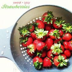 Sweet + Juicy Strawberries :)