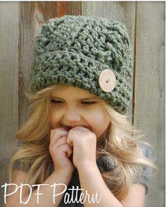Crochet PATTERNThe Blayke Hat Toddler Child by Thevelvetacorn, $5.50