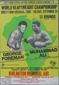 Vintage Forman vs Ali Boxing Poster