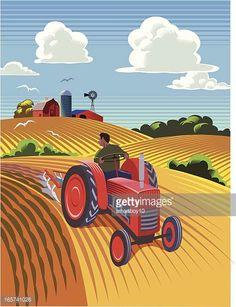 Resultado de imagen de ilustracion tractores antiguos