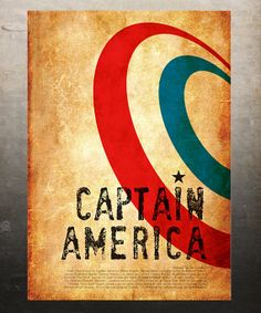 captain america - vintage poster. awesome!!