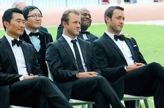 ~fans self~ Look at those handsome men!