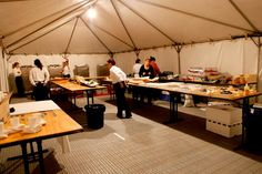 Melbourne Arts Fair 2010, #RoyalExhibitionBuilding, back of house set up, catering kitchen, catering by Bay Leaf Catering