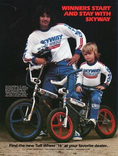 vintage bmx advertisement...I think it may be Denny Davidow?