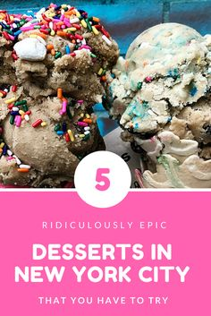Best desserts in NYC! I mean just look at them Im already drooling! Need to hit up these places when Im next in NYC again. - Travel New York - Ideas of Travel New York Food Nyc, New York Food, New York City Guide, New York City Travel, New York City Shopping, Edible Cookies, Edible Cookie Dough, Central Park, Simple Cookie Dough Recipe
