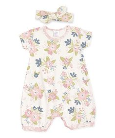 $16.99 marked down from $30.95! Spring Blossoms Bubble Playsuit & Headband - Infant  #zulilyfinds