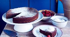 Made with dark chocolate and almond flour, this special occasion-worthy cake is surprisingly light and airy thanks to the addition of egg whites and just happens to be gluten-free. Serve with whipped creme fraiche and a tumble of fresh raspberries. Chocolate Almond Cake, Almond Cakes, Dove Chocolate, Easy Gluten Free Desserts, Gluten Free Baking, Keto Desserts, Delicious Desserts, Cake Recipes, Dessert Recipes
