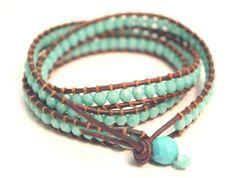 #DIY #tutorial Leather triple wrapped bracelet