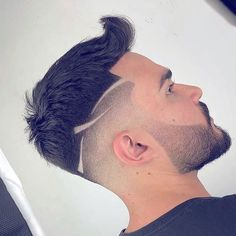 😍 Tag your friend 😎 ـ ـ Cool Hairstyles For Men, Boy Hairstyles, Haircuts For Men, Thick Hairstyles, Haare Tattoo Designs, Fade Haircut Designs, Hair And Beard Styles, Hair Styles, Gents Hair Style