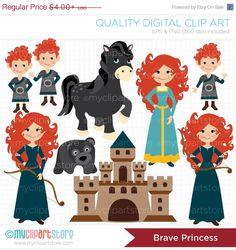 ON SALE  The Brave Girl / Princess Clip Art / by MyClipArtStore