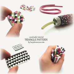 Tutorial by Lucy Struncova - Triangle pattern