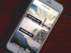 Trip Planner Interaction by Ghani Pradita Mobile Mockup, Mobile App Ui, Travel Planner, Trip Planner, Interaktives Design, Ui Animation, Mobile Ui Design, Ui Design Inspiration, User Experience Design